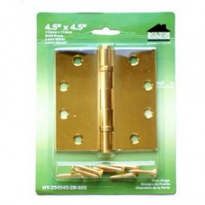 4.5inch x 4.5inch x 2.5mm  Solid Brass Hinges