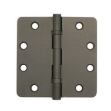 4.5 inch x 4.5 inch x 2.5mm Solid Brass Hinge Oil Rubbed Bronze