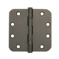 """4.5inch x 4.5inch x 2.5mm 5/8"""" Radius Solid Brass Hinges"""