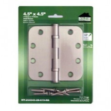 """4.5inch x 4.5inch x 2.5mm 5/8"""""""" Radius Solid Brass Hinges"""