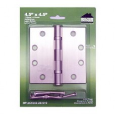 """4.5inch x 4.5inch x 2.5mm 1/4"""" Radius Solid Brass Hinges"""