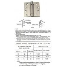 4inch x 4inch Commercial Steel Door Hinge with spring