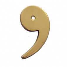 "3""  4""  6""  Symbol Comma With Bright Brass Finish."