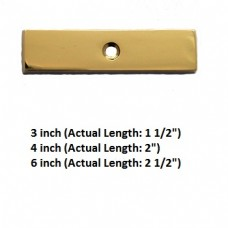 "Symbol Dash Bright Brass Finish for 3"" , 4"" , 6"