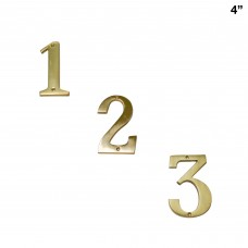 4 inch  Heavy Duty  Solid Brass House Number