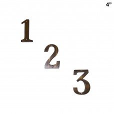 4 inch Antique  Brass House Number