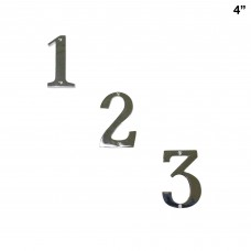 4 inch  Bright Chromium Plate  Brass House Number