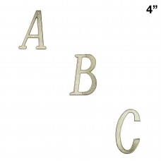 4 inch Zinc Alloy Gold Finish House Letters A-F Only