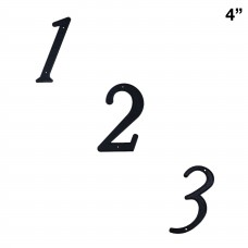 4 inch Zinc Alloy House number