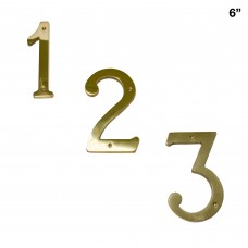 6 inch Solid Brass House Number