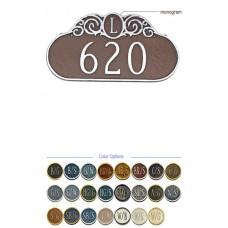 "Decorative MONOGRAM Address Plaque 9-1/2""x 16"""