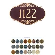 "VICTORIAN Address Plaque  9-1/2"" x 16"""