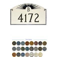 "SUNFIRE Monogram Address Plaque 10-1/4"" x 16"""