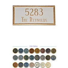 "Harrison  Rectangle Metal Plaque 8"" x 16-3/4"""