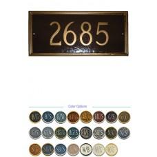"Melilla Rectangle Lawn Metal Plaque 7-3/4""x 16-1/2"""