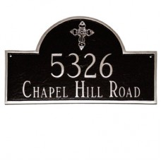 """Classic Arch with Ornate Cross Plaque 2 LINE 10.5""""x 16.5"""""""
