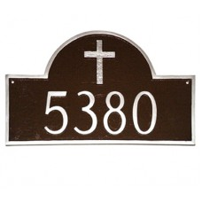 """CLASSIC ARCH WITH RUGGED CROSS Plaque 16.5""""x 10.25"""""""
