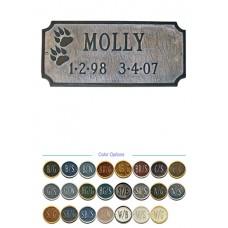 "Dog Memorial Plate 7-1/4"" x 15"""