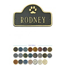 "Dog Nameplate  4-3/4"" x 8"""