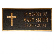 "RUGGED CROSS MEMORIAL- In Memory of 15.75"" x 7.25"""