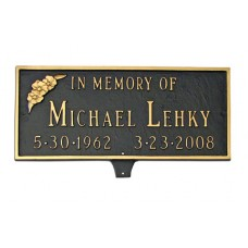 "Memorial Plaque with Flower 15.75""x 7.25"""