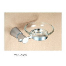 5500 Series -Solid Brass  Soap Dish with Glass