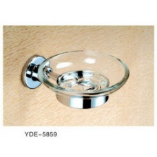 5800 Series -Solid Brass  Soap Dish with Glass